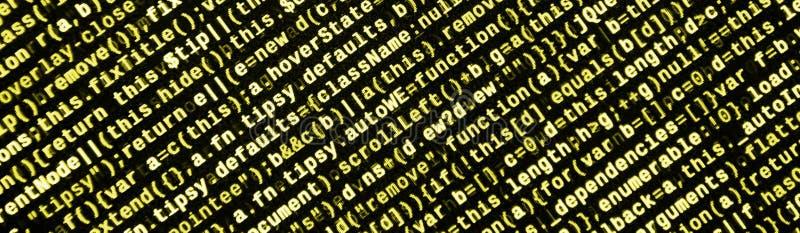 Computer program preview. Programming code typing. Information technology website coding standards for web design royalty free illustration