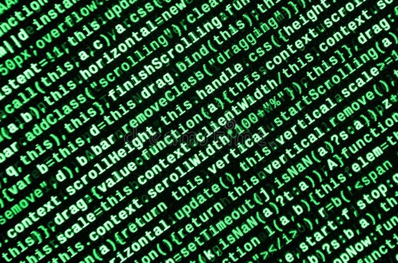 Computer program preview. Programming code typing. Information technology website coding standards for web design stock illustration