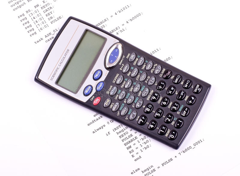 Download Computer Program And Scientific Calculator Stock Image - Image: 22372061