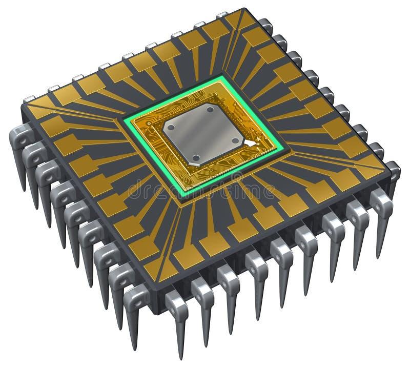 Computer-Prozessor lizenzfreie abbildung