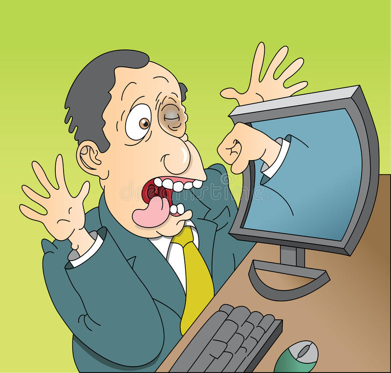 Computer Rage Royalty Free Stock Photo