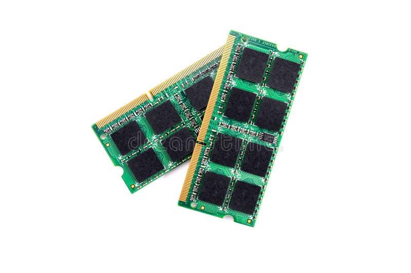 Computer RAM-Module auf weißem Hintergrund stockfotografie