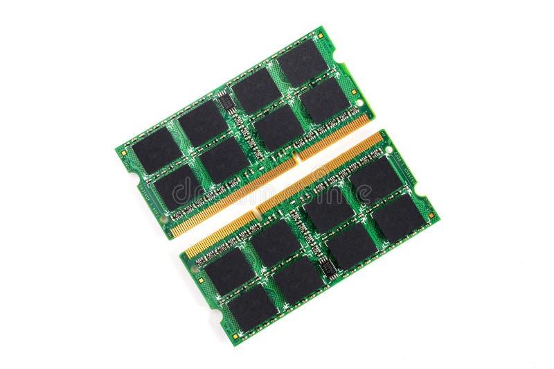 Computer RAM-Module auf weißem Hintergrund stockfoto
