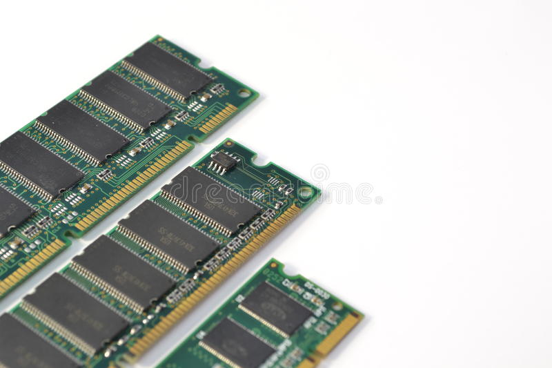 Computer ram modules royalty free stock images