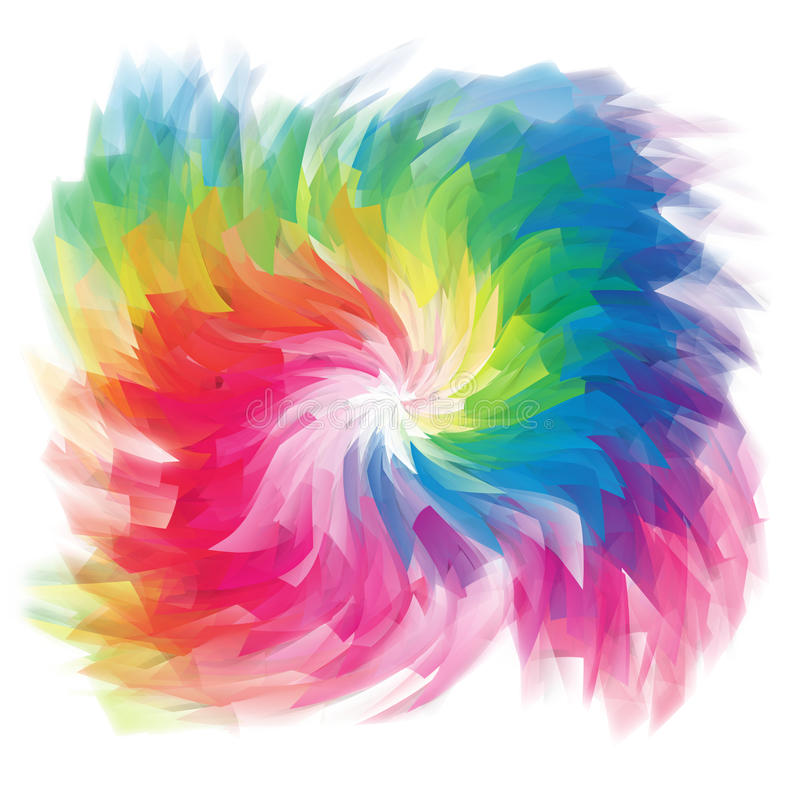 Computer rendered multicolored background stock illustration