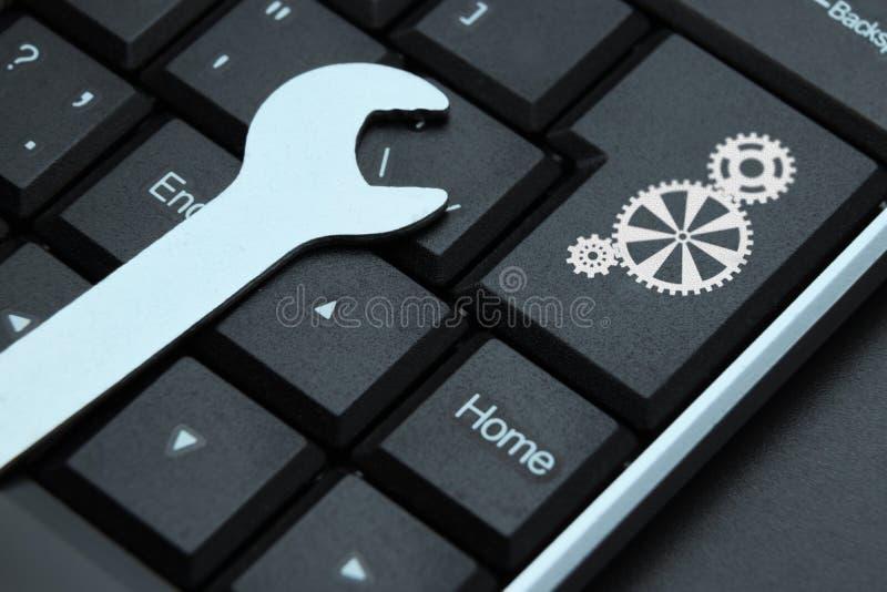 Computer repair concept. Hardware or software error.  stock photos