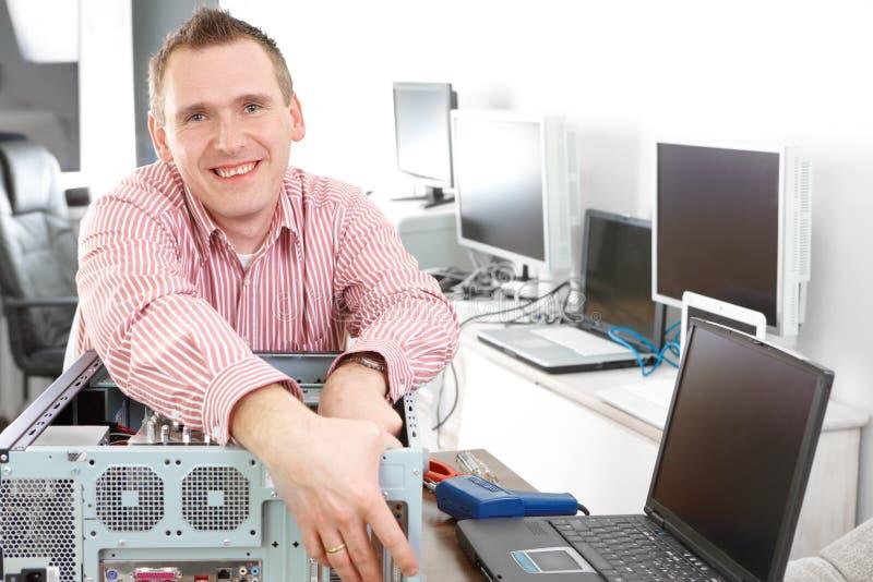 Download Computer Repairman Stock Photo - Image: 18614330