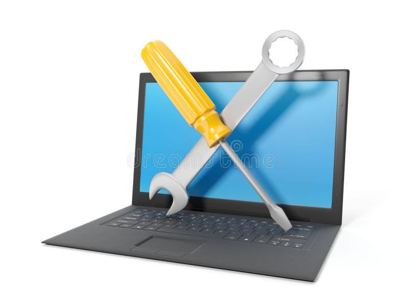 computer reparatie royalty-vrije stock afbeelding