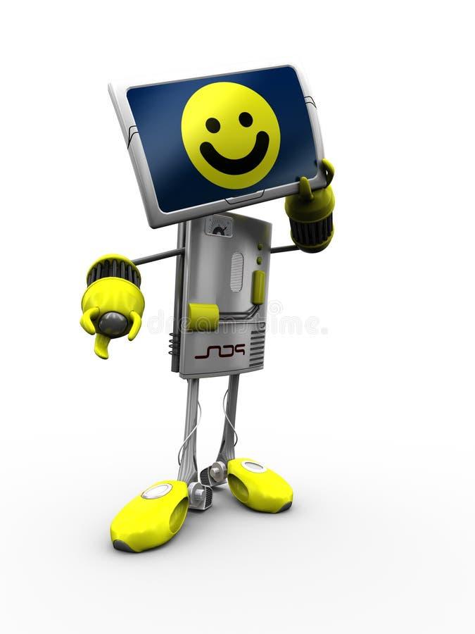 Download Computer Robot stock illustration. Image of control, engine - 12929744