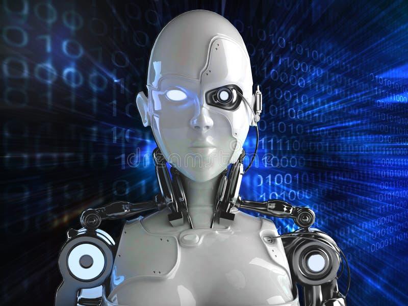Computer Robot background stock illustration