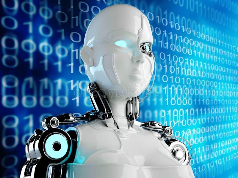 Computer Robot background vector illustration