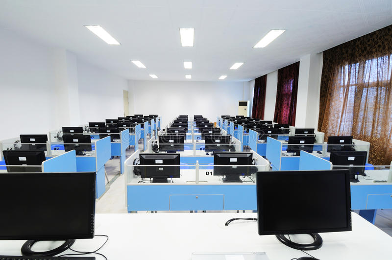 Computer room. In the college