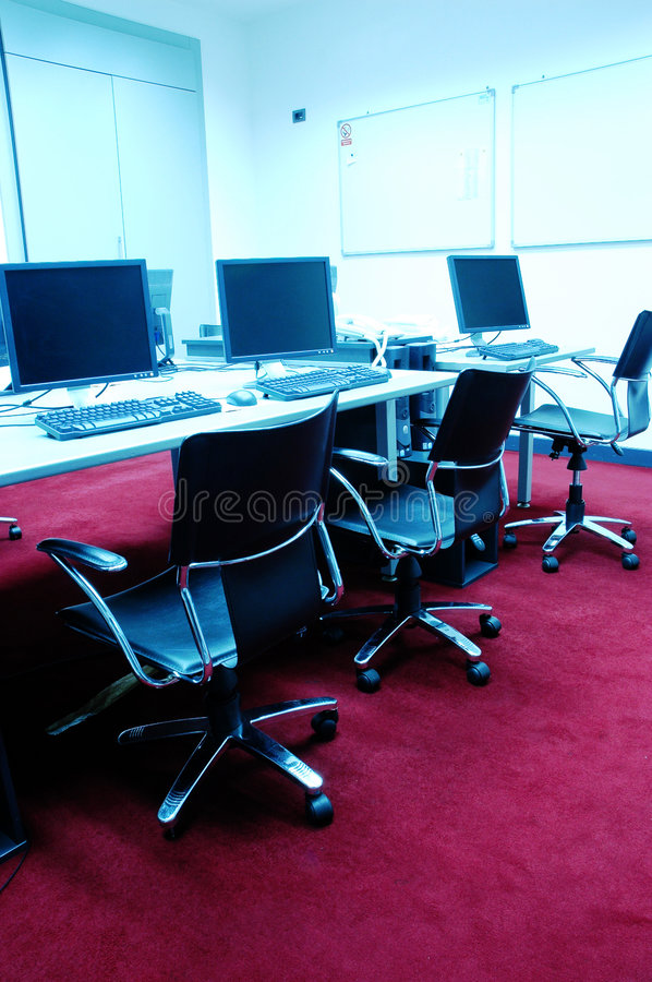Computer room royalty free stock image