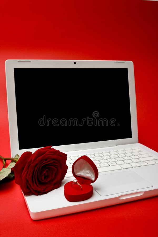 Computer, Rot rosafarben, Ring stockfotografie