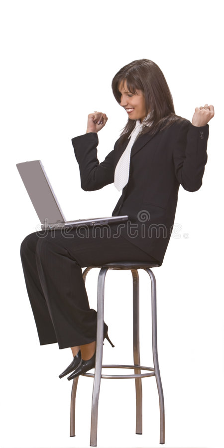 Computer Satisfaction Royalty Free Stock Photography