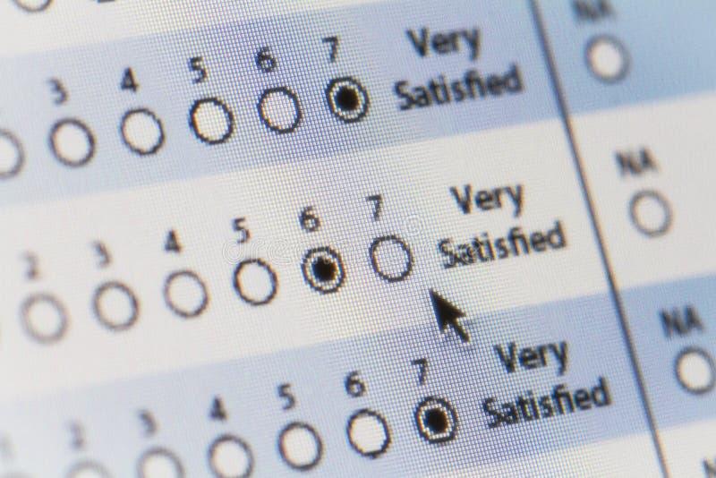 Computer Satisfaction Survey royalty free stock image