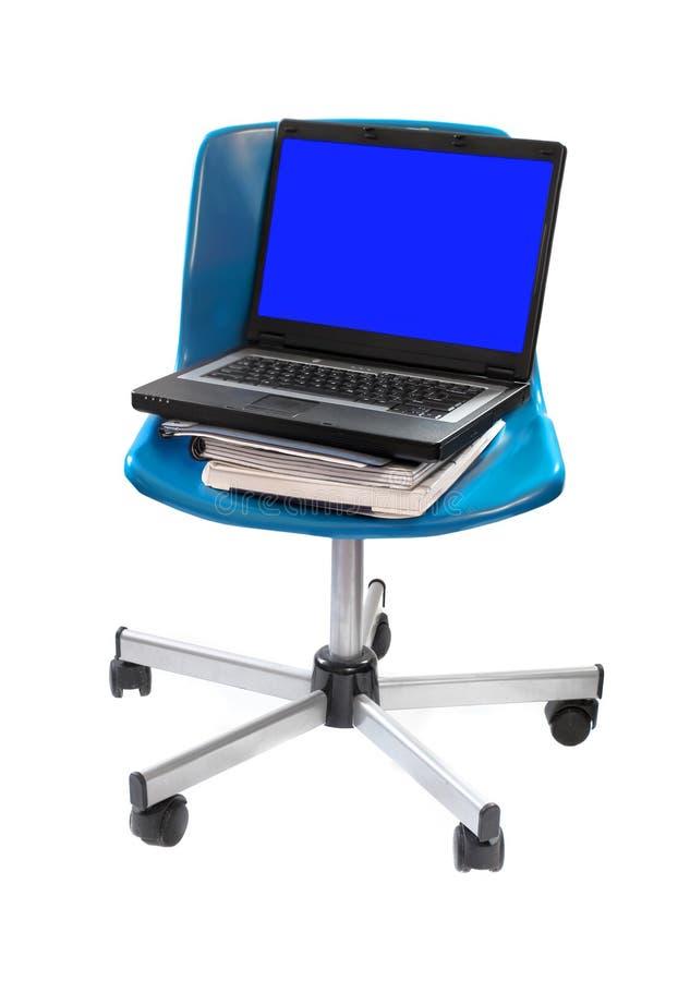 Computer school chair royalty free stock photos