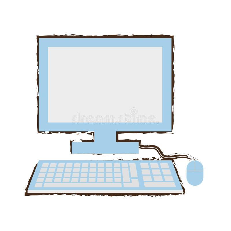computer school learn sketch royalty free illustration