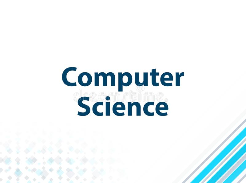 Computer Science Modern Flat Design Blue Abstract Background. Computer Science Isolated on Modern Flat Design Blue Abstract Background royalty free illustration