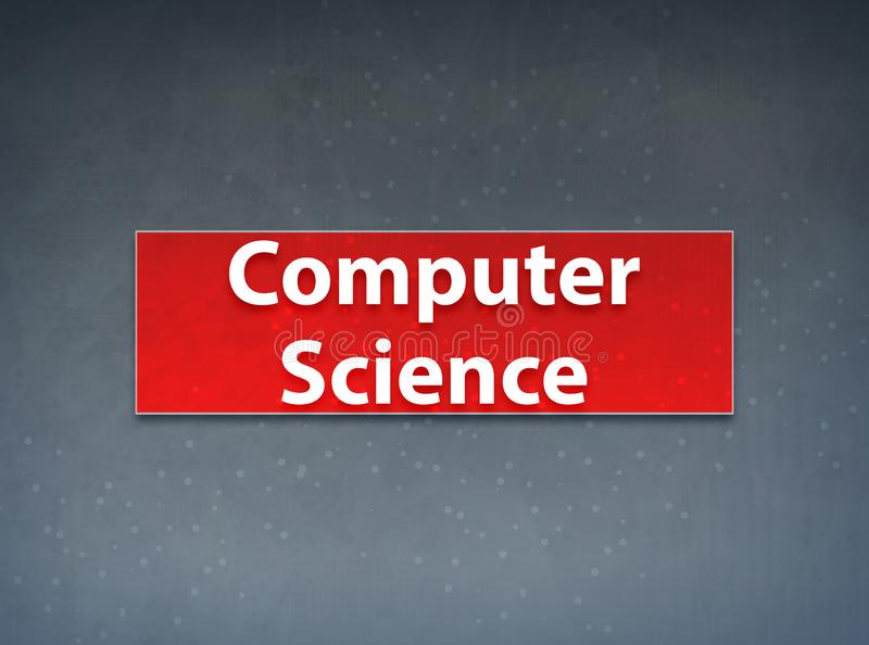 Computer Science Red Banner Abstract Background. Computer Science Isolated on Red Banner Abstract Background illustration Design stock illustration