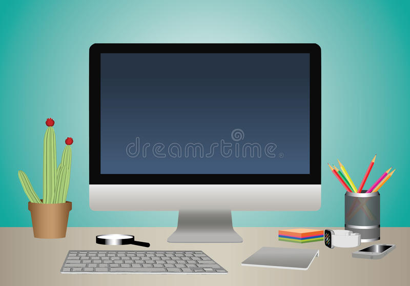 Computer screen stock illustration