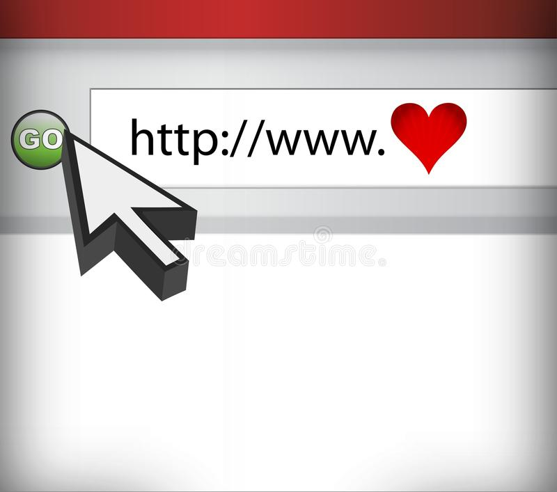 Download Computer Screen, Concept Of Love In Cyberspace Royalty Free Stock Images - Image: 21999089
