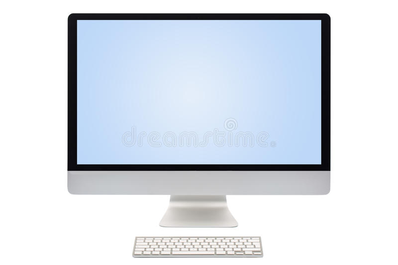 Computer screen isolated. On a white background royalty free stock photo