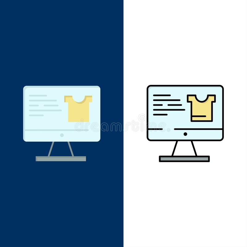 Computer, Screen, Monitor, Shopping.  stock illustration