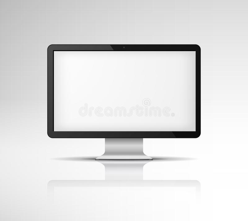 Computer screen. PC monitor for office computers to monitor electronic data. Vector illustration. Icon vector illustration