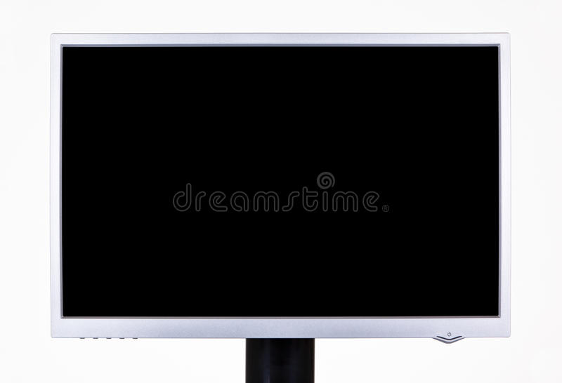 Computer screen. Widescreen computer screen isolated on white royalty free stock images