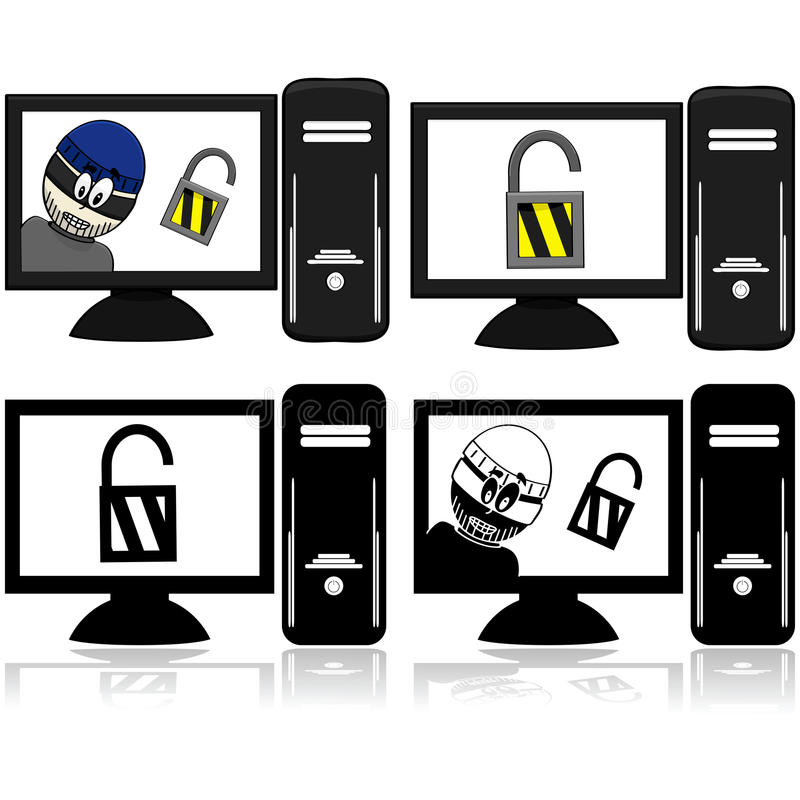 Download Computer security stock vector. Image of outlaw, information - 28068953