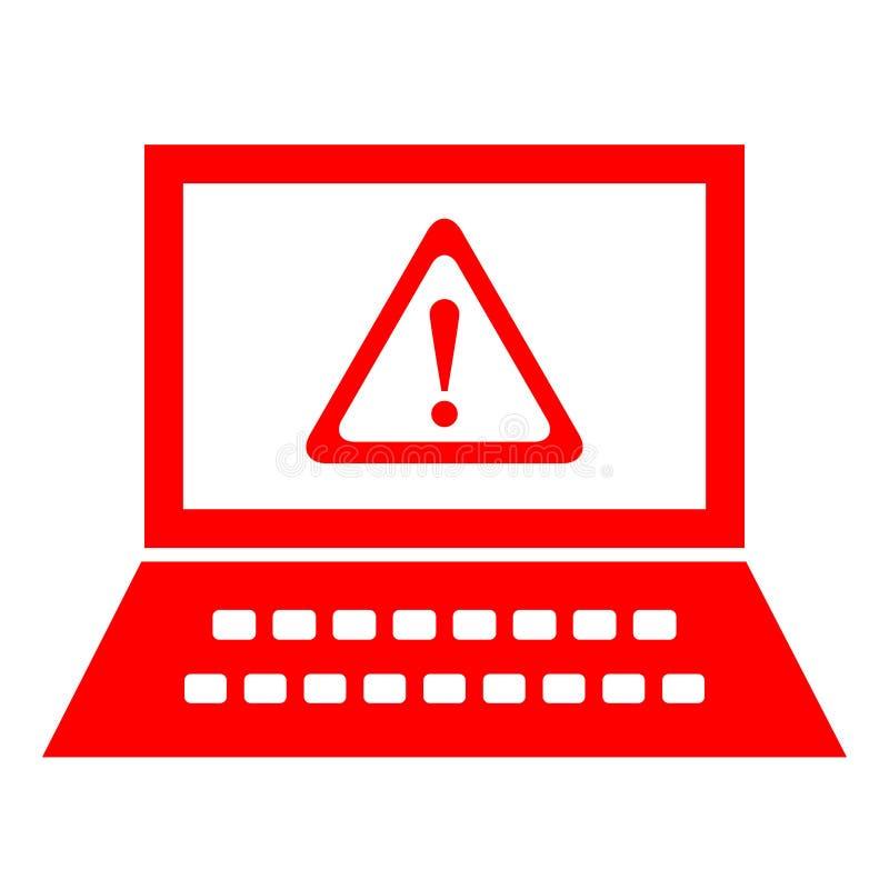 Computer security alert stock illustration