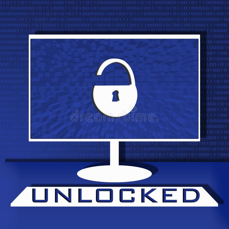 Computer security illustration royalty free stock photo