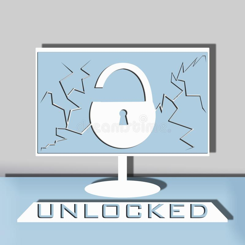 Computer security illustration stock images