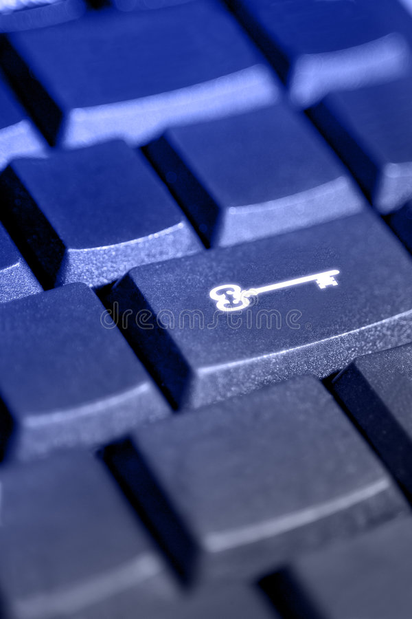 Computer Security & Privacy Key stock image