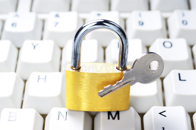 Download Computer security system. stock photo. Image of reliability - 33160276