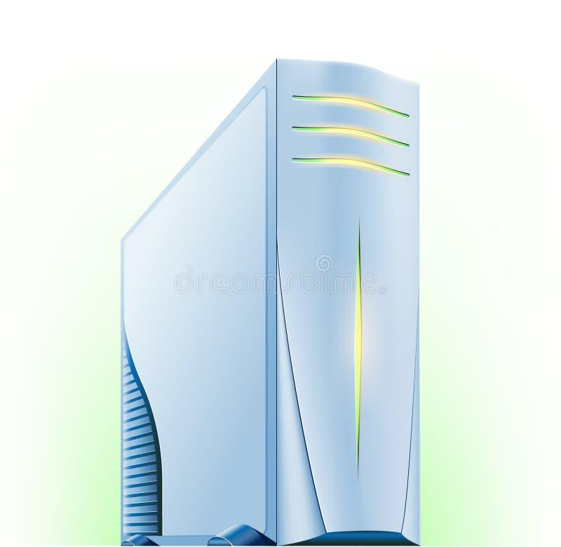 Computer server. Vector illustration of computer server on green white background vector illustration