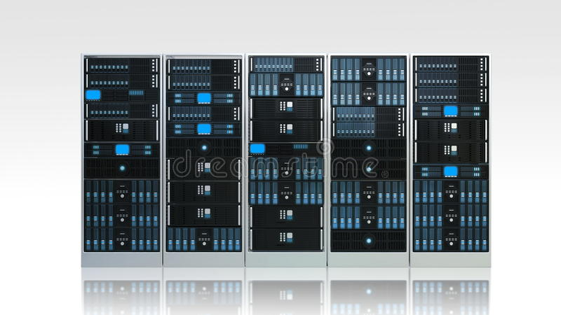 Computer Server Cabinet Royalty Free Stock Photos