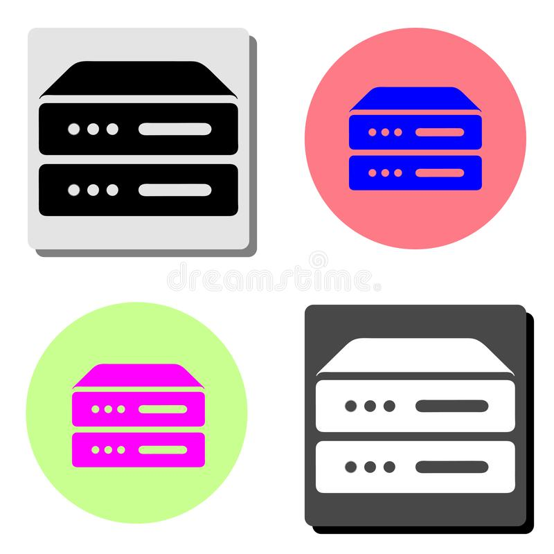 Computer Server. flat vector icon. Computer Server. simple flat vector icon illustration on four different color backgrounds vector illustration