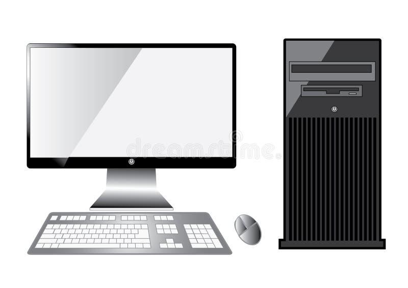 Computer server. Isolated on white background stock illustration