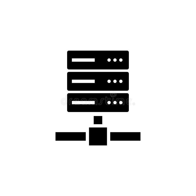 Computer-Server, Netz-Speicher-flache Vektor-Ikone lizenzfreie abbildung