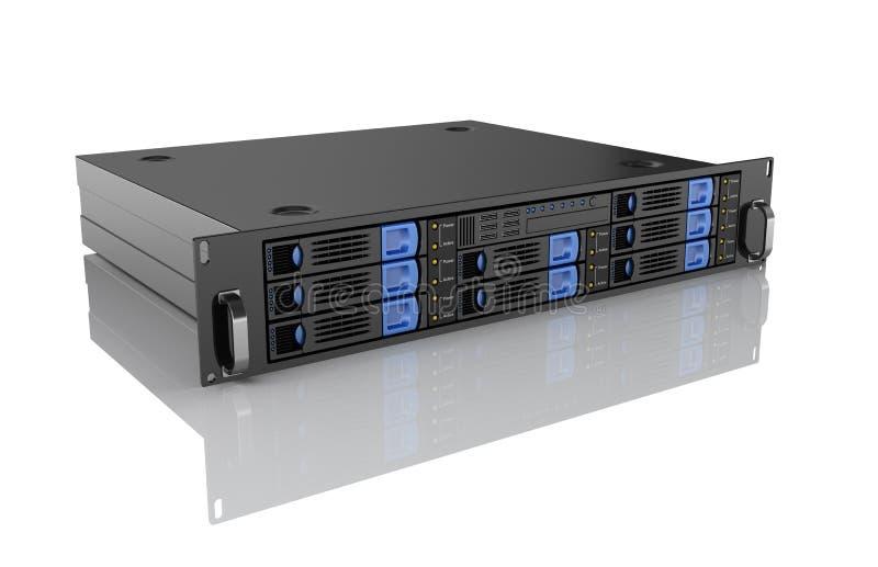 Computer server unit. On white background stock illustration