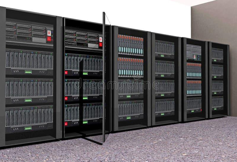 Computer Servers royalty free illustration