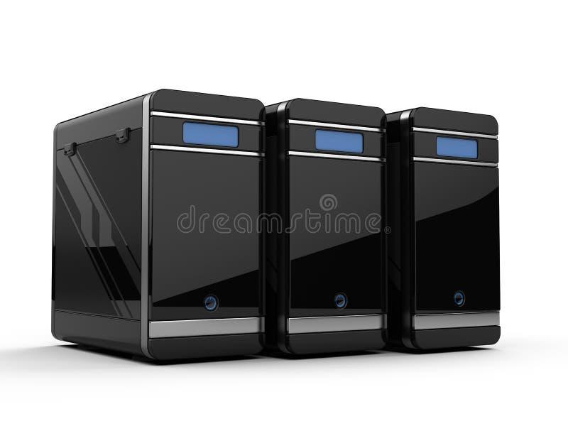 Download Computer servers stock illustration. Image of processors - 21407118