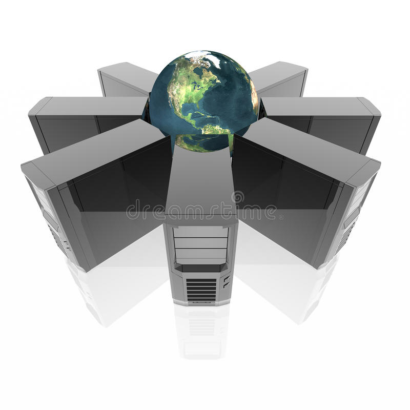 Computer Servers In Ring Royalty Free Stock Images