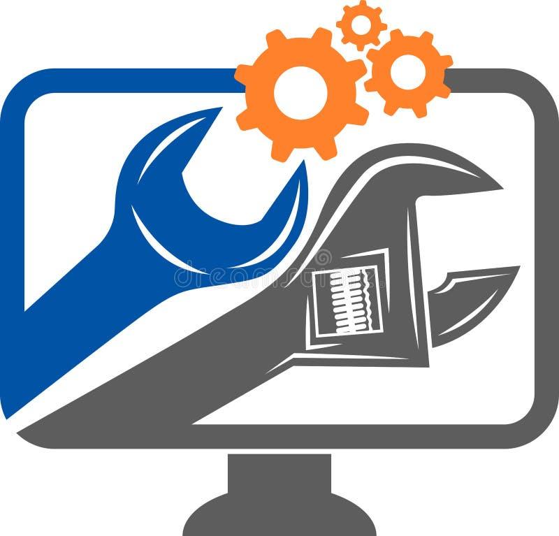 Computer service logo royalty free illustration