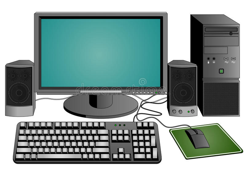 Computer Set Royalty Free Stock Photography