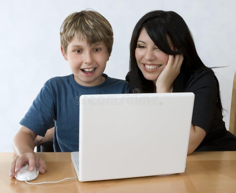 Computer sind Spaß lizenzfreies stockbild
