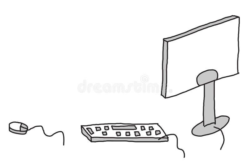 Computer sketch vector illustration
