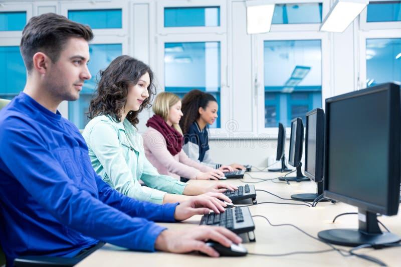 Computer skills practice stock photo
